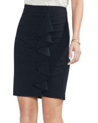 Vince Camuto - Ruffle-front Bodycon Skirt - Lyst