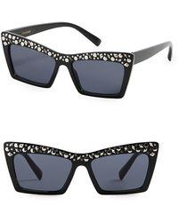 Mango - Studded Butterfly Sunglasses - Lyst