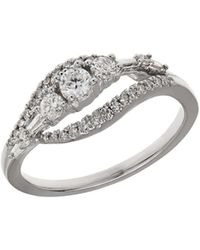 Lord & Taylor - Diamond And 14k White Gold Ring - Lyst