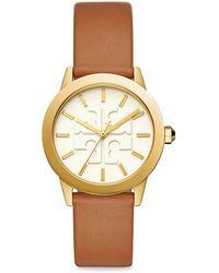 Tory Burch - Gigi Gold-tone Leather Watch - Lyst