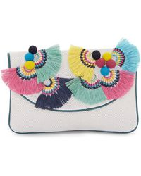 Vince Camuto - Witan Canvas Convertible Clutch - Lyst