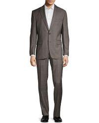 Lauren by Ralph Lauren - Classic-fit Plaid Wool Suit - Lyst