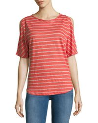Tommy Bahama - Striped Cold Shoulder Tee - Lyst