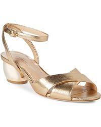 Imagine Vince Camuto - Leven2 Metallic Leather Sandals - Lyst