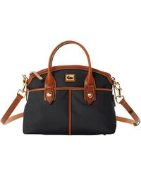 Dooney & Bourke Contrast Trim Domed Satchel - Black