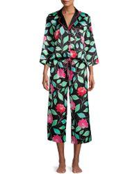 Kate Spade 2-piece Floral-print Pyjama Set - Black