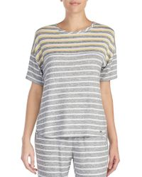 Kensie - Pyjama Stripe Knit Sleep Top - Lyst