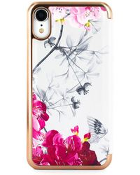 Ted Baker - Babylon Nickel Mirror Folio Iphone Xr Case - Lyst