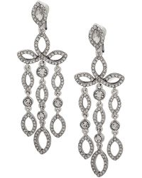 Anne Klein - Crystal Clip-on Chandelier Earrings, Created For Macy's - Lyst
