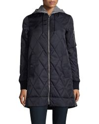 Vince Camuto - Hideable Hood Quilted Jacket - Lyst