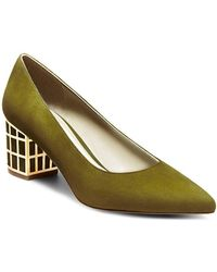 B Brian Atwood - Karina Microsuede Point-toe Court Shoes - Lyst