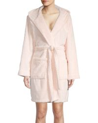 Lord & Taylor - Textured Hooded Robe - Lyst