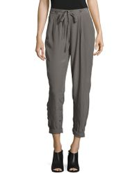 Lucky Brand - Pewter Crepe Trousers - Lyst