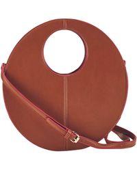 Bay Sky Colorblock Top Handle Shoulder Bag - Brown