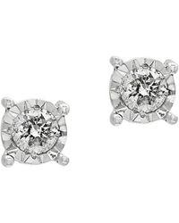 1d87bf88e Lyst - Effy Diamond, Onyx & 14k Yellow Gold Stud Earrings in Metallic