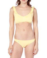 Polo Ralph Lauren - Modern Solid Ruffle Tie-back Bikini Top - Lyst