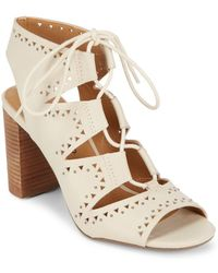 Lucky Brand - Tafia Leather Lace-up Sandals - Lyst