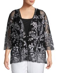 Alex Evenings - Plus Two-piece Embroidered Illusion Top & Jacket Set - Lyst