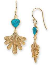 Argento Vivo - 18k Goldplated Sterling Silver Foliage Fan Drop Earrings - Lyst