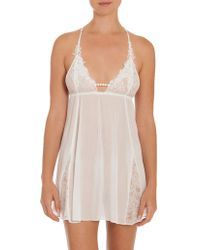 In Bloom - Lace Mesh Chemise - Lyst