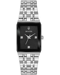 Bulova - Futuro Quadra Link Bracelet Watch - Lyst