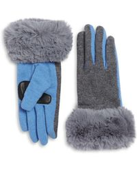Echo - Faux Fur Cuffs Gloves - Lyst