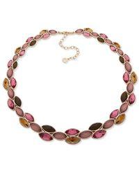 Anne Klein - Crystal Collar Necklace - Lyst