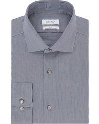 CALVIN KLEIN 205W39NYC - Slim-fit Textured Dress Shirt - Lyst