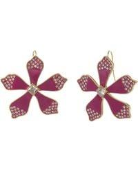 Christian Siriano Flower Drop Earrings - Green