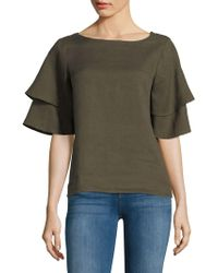 Lord & Taylor - Ruffled-sleeve Blouse - Lyst