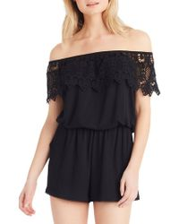 Jessica Simpson - Acelin Off-the-shoulder Romper - Lyst