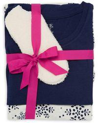Hue Snowflake 3-piece Pyjama Gift Set - Blue