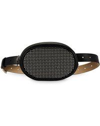 Steve Madden Studded Belt Bag - Black