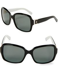 Kate Spade - 54mm Annora Square Sunglasses - Lyst