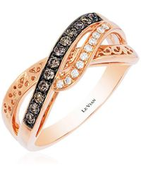 Le Vian - Chocolatier Diamond And 14k Rose Gold Ring - Lyst