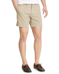 Polo Ralph Lauren - Classic-fit Flat-front Chino Shorts - Lyst