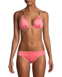Kate Spade - String Triangle Bikini Top - Lyst
