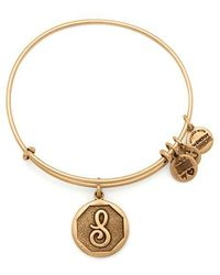 ALEX AND ANI | Initial S Charm Bangle | Lyst