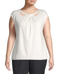 Nipon Boutique - Plus Sleeveless Knit Top - Lyst