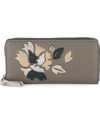 Anne Klein - Slim Floral Zip-around Wallet - Lyst