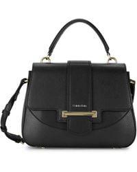 Calvin Klein Amara Faux Leather Satchel - Black