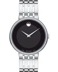 Movado Esperanza Diamond Bezel Bracelet Watch - Metallic