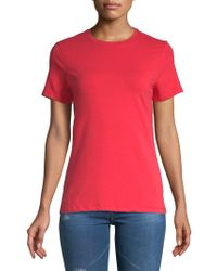 e8c2d48f91798 Lyst - Calvin Klein Jeans Elbow-length Sleeve Hi-lo Tee in Pink