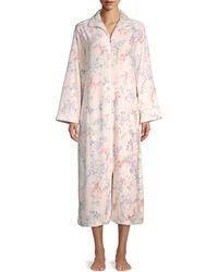 Miss Elaine Floral-print Fleece Nightgown - Pink