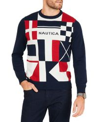 Nautica - Classic Fit Long Sleeve Sweater - Lyst