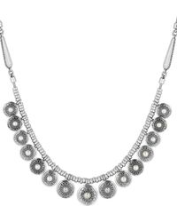 Lucky Brand - Silvertone Freshwater Pearl Collar Necklace - Lyst