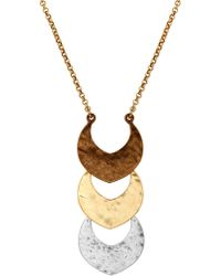 Lucky Brand - Tri-tone Pendant Necklace - Lyst
