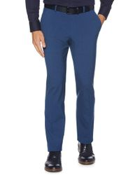 Perry Ellis Slim-fit Straight Leg Dress Pants - Blue