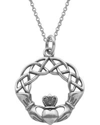 Lord & Taylor - Claddagh Celtic Knot Pendant Necklace - Lyst
