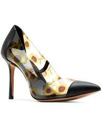Katy Perry Meline Floral Stiletto Court Shoes - Black